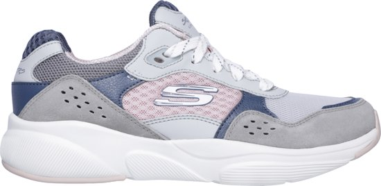 charted Meridian Grey Pink Dames Sneakers Maat38 Skechers Hot 5OxIHqHw