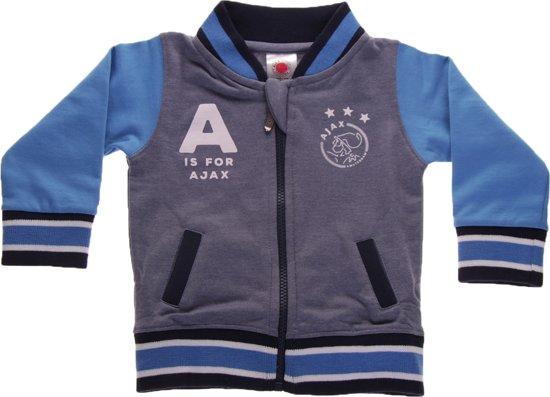 Ajax Baseball Jacket Baby A Is For Ajax Blauw Maat 62/68