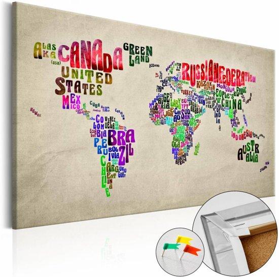 Afbeelding op kurk - Global Tournée , wereldkaart