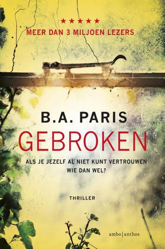 Boek cover Gebroken van B.A. Paris (Onbekend)