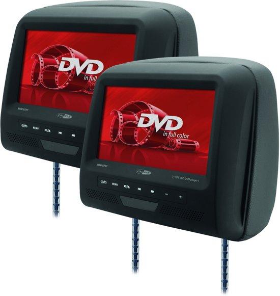 Caliber MHM273T - DVD speler - 2x hoofdsteun met DVD - 7 inch - Zwart