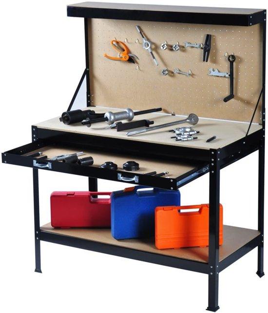 vidaxl werkbank werkbank universeel 120 x 60 cm 140097. Black Bedroom Furniture Sets. Home Design Ideas