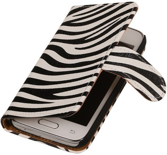 MP Case Bookcase Zebra Flip Cover Hoesje Samsung Galaxy Grand Neo i9060 in Akkerput