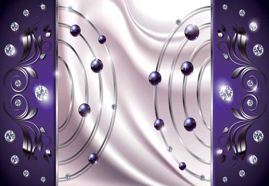 Fotobehang Purple Diamond Abstract Modern | M - 104cm x 70.5cm | 130g/m2 Vlies