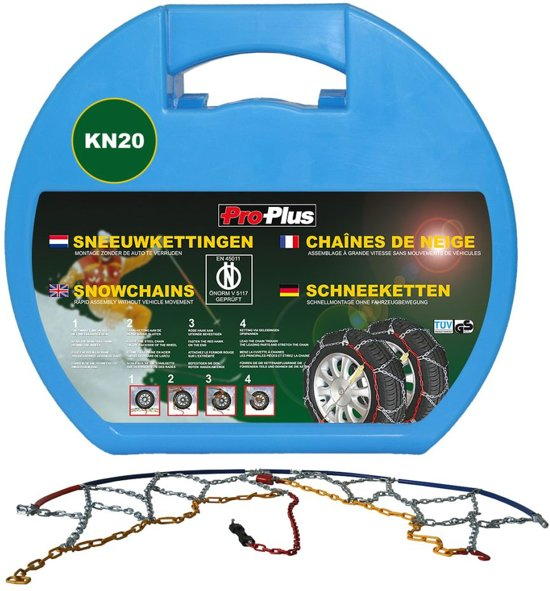 Pro Plus Sneeuwketting KN20 met 12 mm schakel
