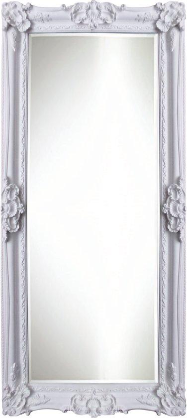 Qweens - Spiegel - Linda- wit - buitenmaten breed 106 cm x hoog 206 cm.