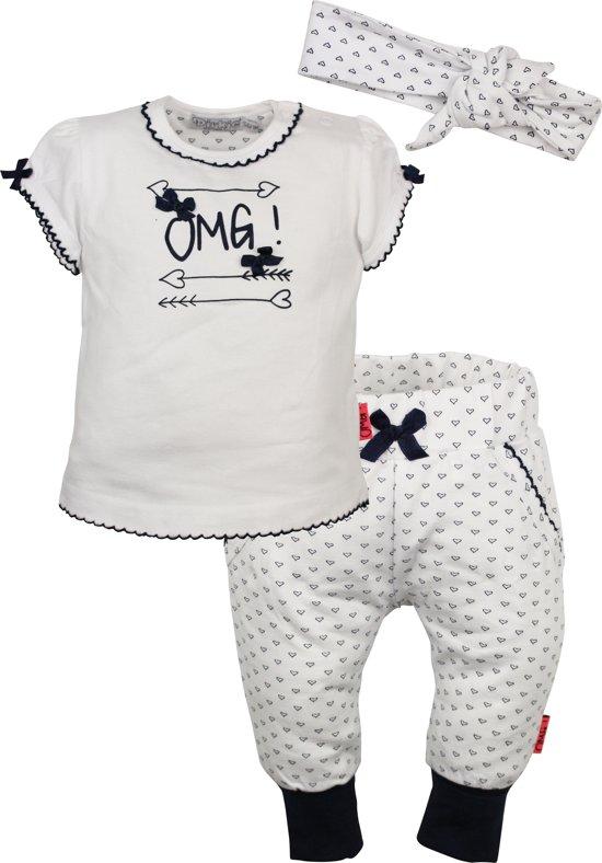 specifiek aanbod vangst koop uitverkoop bol.com | Dirkje babykleding 3-delig setje omg! blauw maat 68