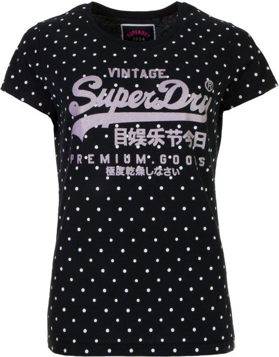 Sportshirt Superdry CasualMaat Entry Logo M Vrouwen wit Vintage Navy QdxhrtsC