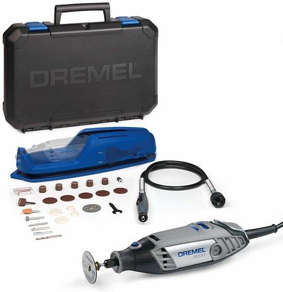 """""""Dremel 3000 Multitool - Roterend - 130 Watt - Inclusief 25 accessoires, flexibele as en premium opbergkoffer met machinehouder"""""""