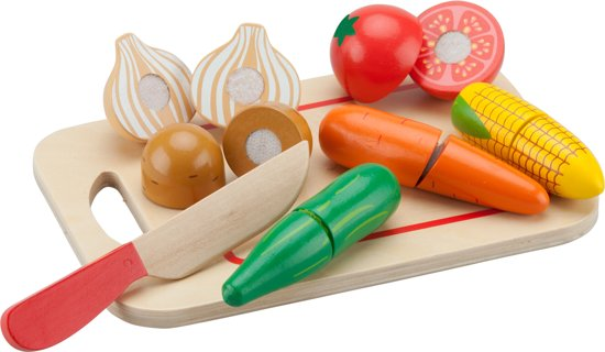 New Classic Toys - Speelgoed Snijset - Groenten op Snijplank - 8 stuks