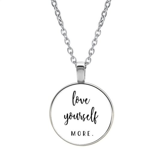 Ketting Glas - Love Yourself More.
