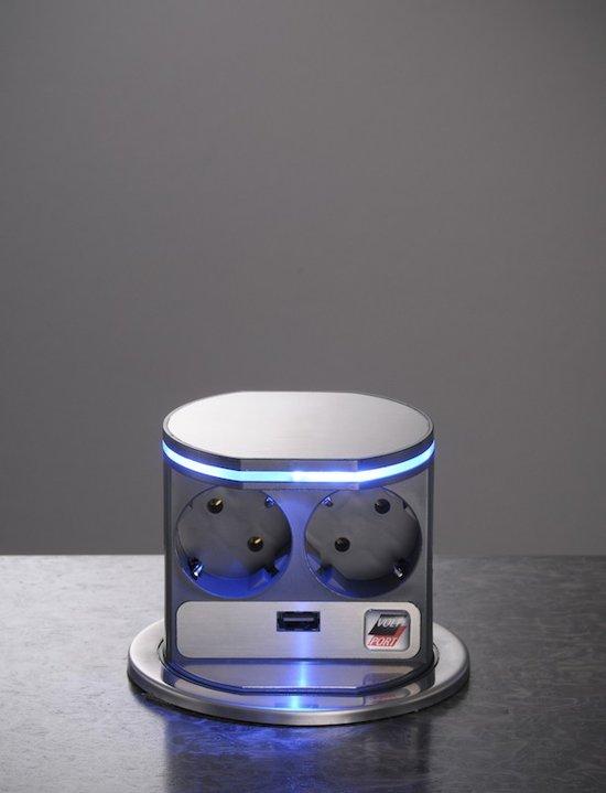 electrisch stopcontact voltport usb met led. Black Bedroom Furniture Sets. Home Design Ideas