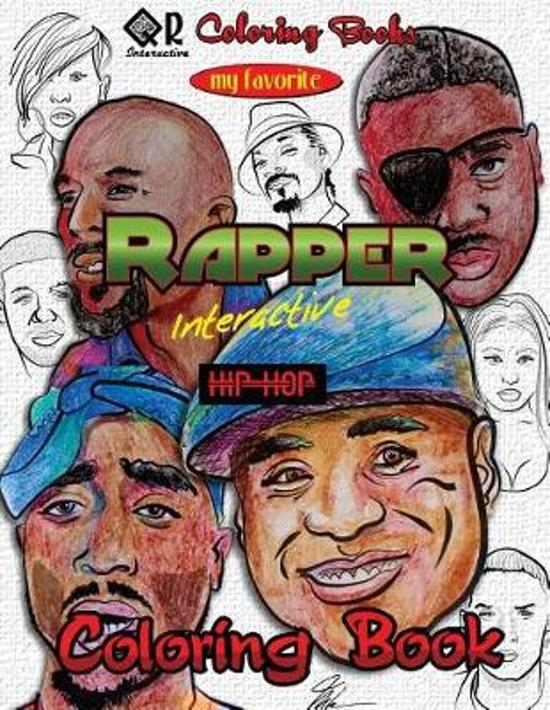 Boek cover My Favorite Rapper Interactive Hip-Hop Coloring Book van Mike Browne (Paperback)