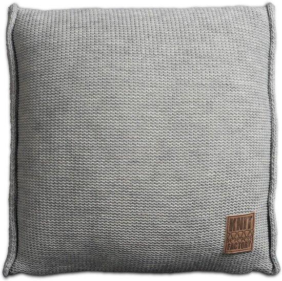 Knit Factory Uni Kussen - 50x50 cm - Licht Grijs