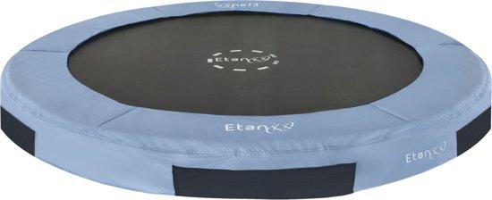 Etan Inground Hi-Flyer Trampoline Ø427 cm - Grijs - Rond - Zeer veilig - Hoog springcomfort