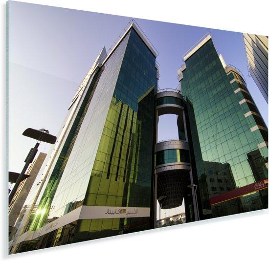 Gebouw van onderen in Riyad Plexiglas 90x60 cm - Foto print op Glas (Plexiglas wanddecoratie)