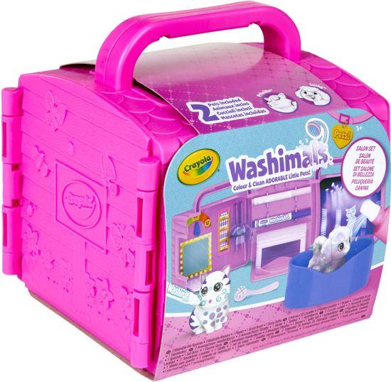 Afbeelding van Crayola Washimals Salon Set speelgoed