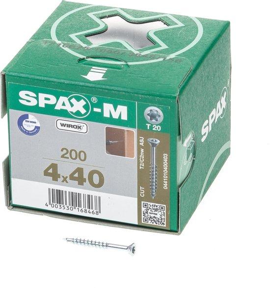 Spax Schroef MDF Verzinkt Torx 4.0 x 40 (200)