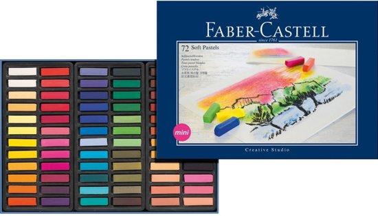 Pastelkrijt Faber Castell halve lengte etui à 72 stuks
