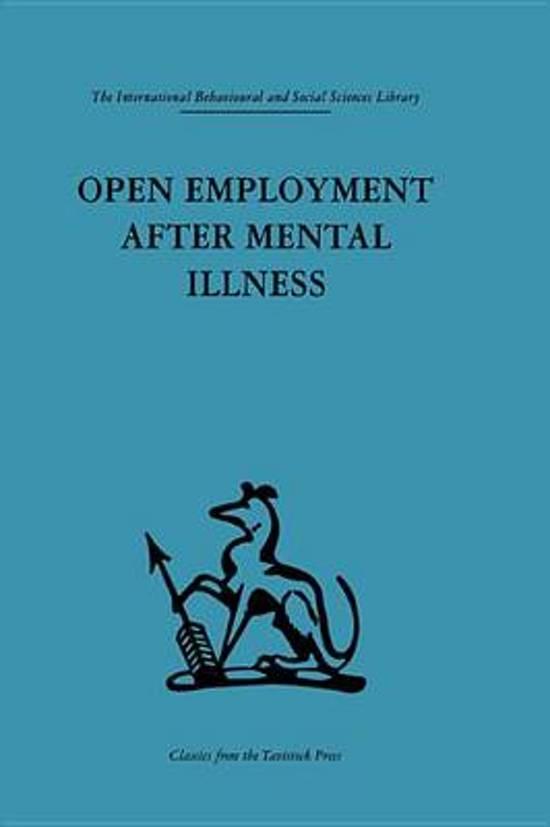 Open Employment after Mental Illness