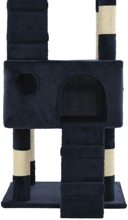vidaXL Kattenkrabpaal met sisal krabpalen 170 cm blauw