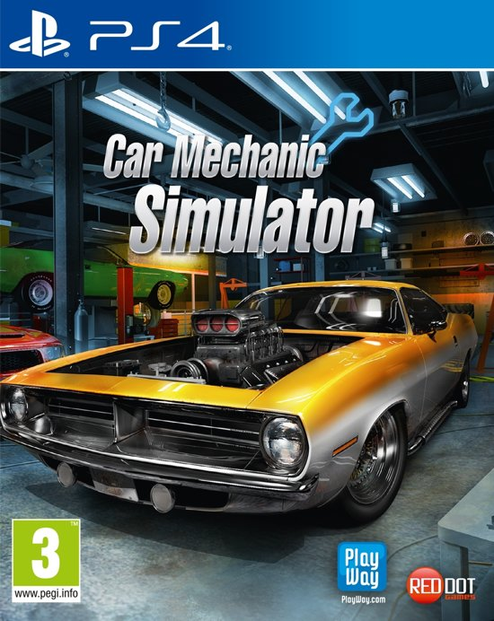Cover van de game Car Mechanic Simulator - PS4