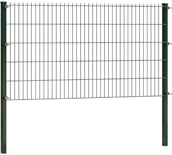 Dubbelstaafmat hekwerk 103 cm hoog | Groen | 4 meter lang