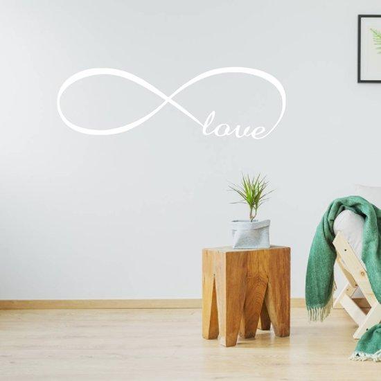 Muursticker Infinity Love -  Wit -  160 x 51 cm  - Muursticker4Sale