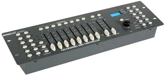 HQ Power 192-channel DMX controller with joystick Bedraad Drukknopen Zwart, Grijs afstandsbediening
