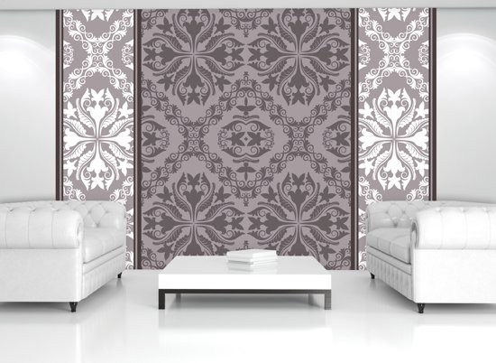 Gray | White Photomural, wallcovering