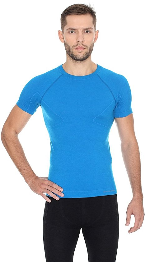 Active t Heren xxl blauw Met Ondershirt Thermo Brubeck shirt heren Wol Merino Wool Seamless fqdCHwxw