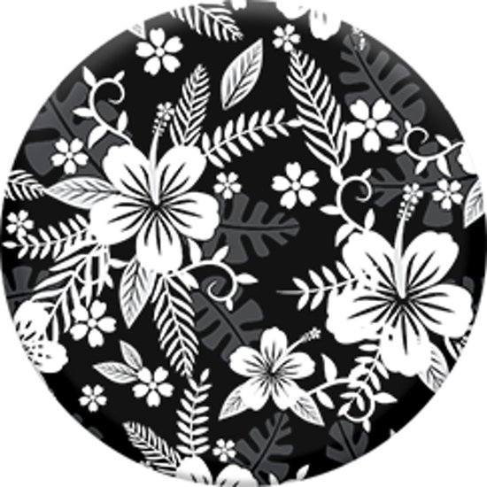 Bolcom Popsocket Popsockets Style Buttonhouder Flowers Black