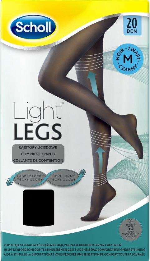 Scholl Light Legs 20 Denier Zwart - Maat M - Panty