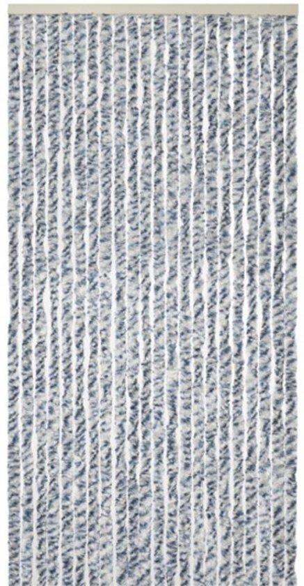 Vliegengordijn De Reijer.Vliegengordijn Pluche Kattenstaart 90 X 200 Cm Grijs Wit