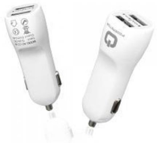 Autolader Plug Powerstar - USB Wit