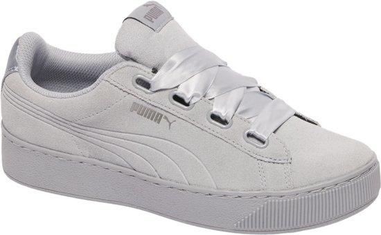 PUMA Vikky Platform Ribbon S Sneakers Dames - Quarry-Quarry