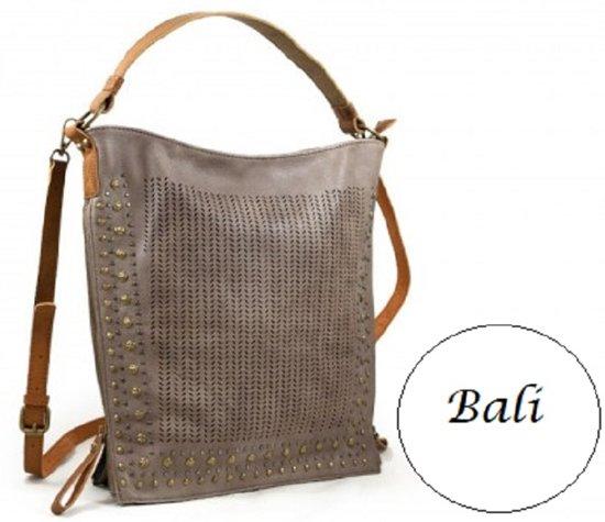 a1c216eb264 bol.com | Taupe kleurige damestas-schoudertas-handtas Bali
