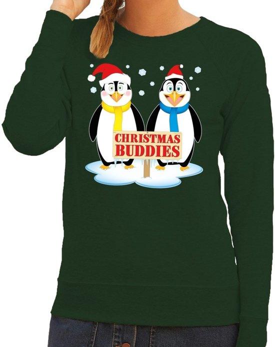 Foute Kersttrui Pinguin.Bol Com Foute Kersttrui Sweater Pinguin Vriendjes Groen Voor