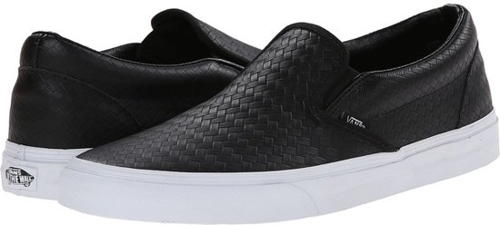 Slip Classic Vans Maat Black On Leather 40 qanH65wn