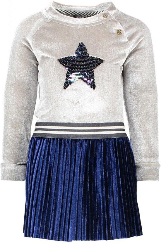 e9e315bc280d1e Like Flo Meisjes jurken Like Flo Flo baby girls velours dress with ve denim  68