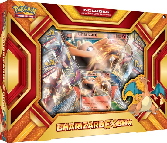 pok mon charizard ex box pok mon kaarten asmodee speelgoed. Black Bedroom Furniture Sets. Home Design Ideas