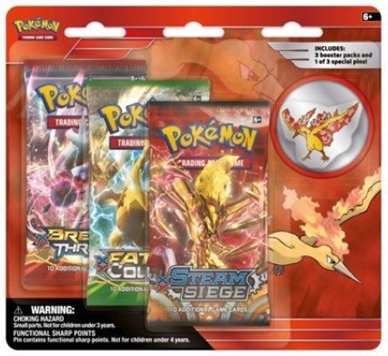 Pokémon Collector's Pin: Moltres Verzamelkaarten 3-delig