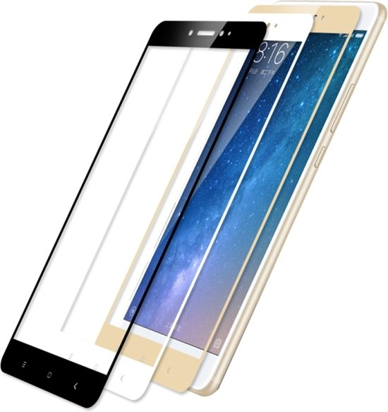 Let op type!! MOFI Xiaomi Max 2 9 H hardheid 2.5D Explosieveilig volledig scherm getemperd glas scherm Film(Gold)