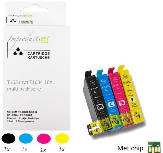 Improducts® Inkt cartridges - Alternatief Epson 16XL 4 pack