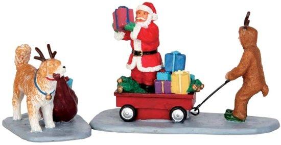 Lemax - Playing Santa - Set of 2