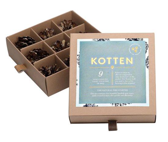 9 Kotten aanmaak dennenappels  u00e2 uit Zweden   aanmaakblokjes   voor de open haard   BBQ of Grill
