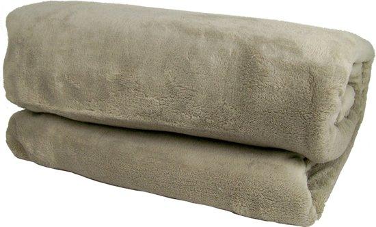Fleece Deken Groot.Fleece Deken Xxl 240x220cm Taupe