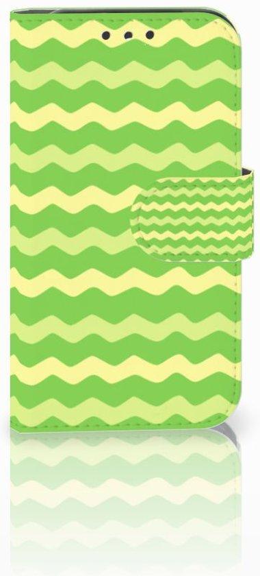 Lenovo B Boekhoesje Design Waves Green