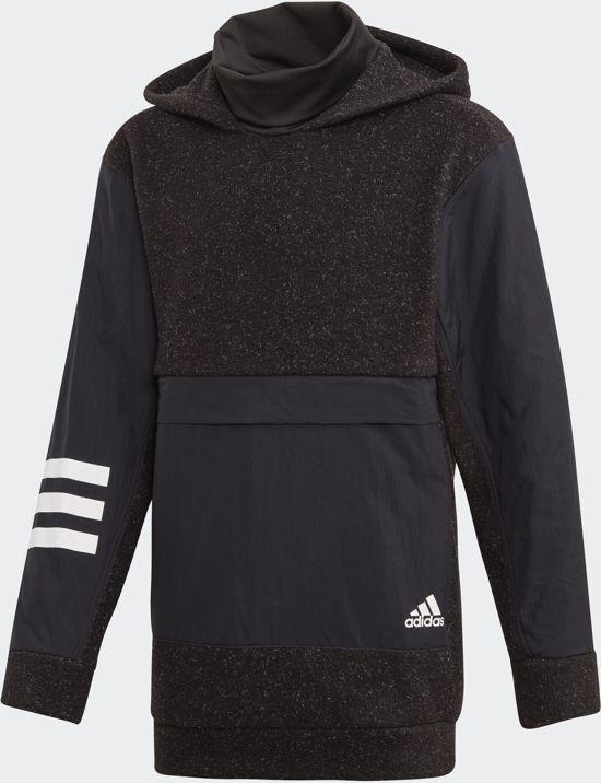 adidas Yb Id Warm Hd Jongens Sporttrui BlackWhite Maat 176