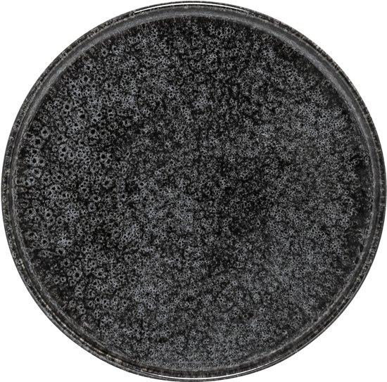 Bloomingville - bord stoneware ø24 cm zwart